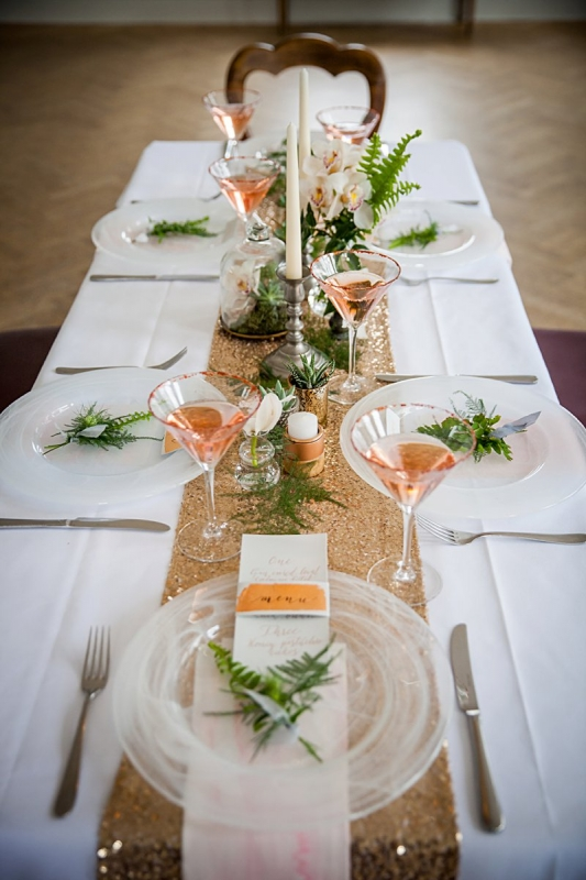 Wedding Stationery Inspiration: Grey & Copper Wedding Table Setting | Amanda Karen Photography