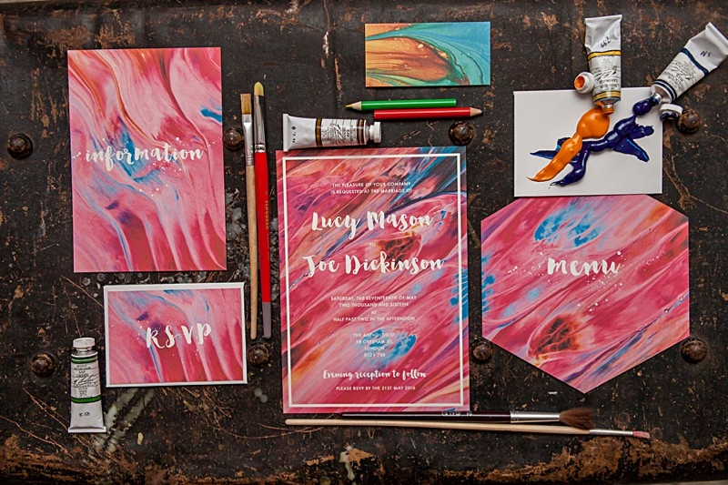 Colourful Marbled Wedding Invitations Inspiration | Marbled Wedding Invitation Suite | Amanda Karen Photography