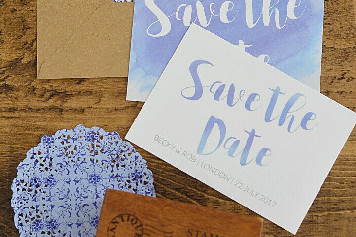 How to Create Watercolour text for Wedding Stationery (+ a printable!)