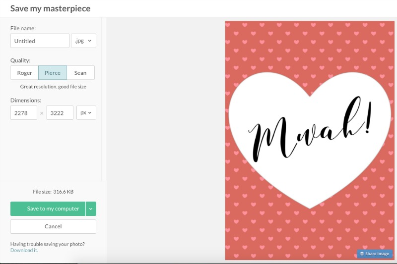 Easy Valentines Day Gift Tags using Picmonkey